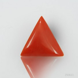 Natural Red Coral Triangular 10+ 6.1ct