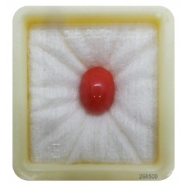 Certified Red Coral Premium 8+ 5.2ct