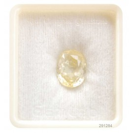 Astrological Natural Yellow Sapphire Fine 8+ 4.8ct