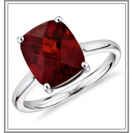 Garnet Cushion Cocktail Ring